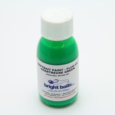 Softbait Paint - Fluo UV - Chartreuse Green - 60ml  + pippet