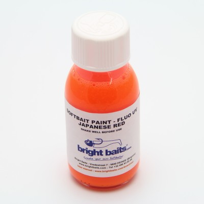 Softbait Paint - Fluo UV - Japanese Red - 60ml + pippet