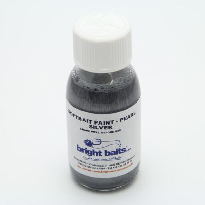 Softbait Paint - Pearl - Silver - 60ml + pippet